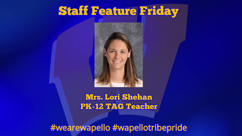 Staff Feature Friday - Lori Shehan, PK-12 TAG Teacher