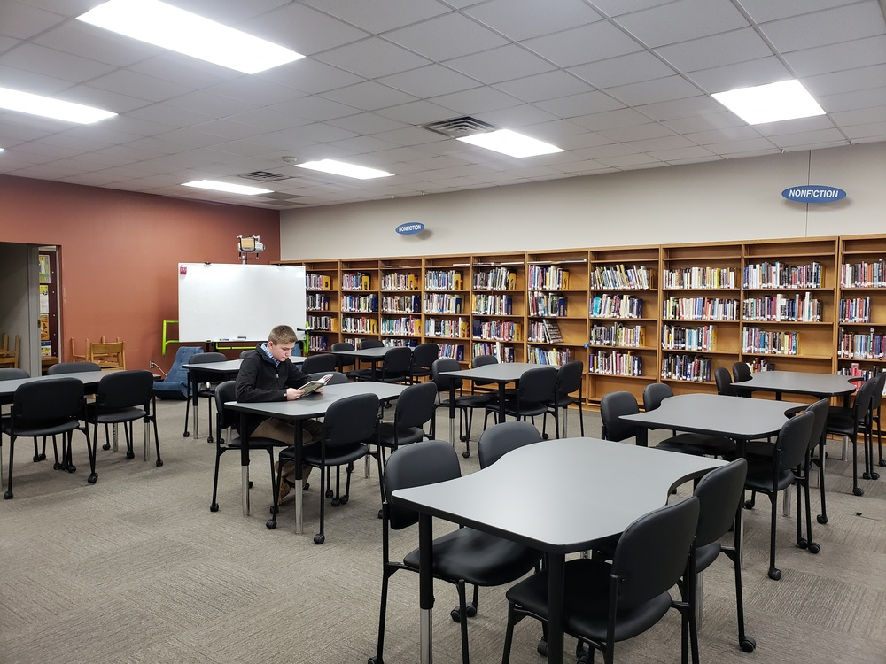 Wapello High School Receives New Library Furniture