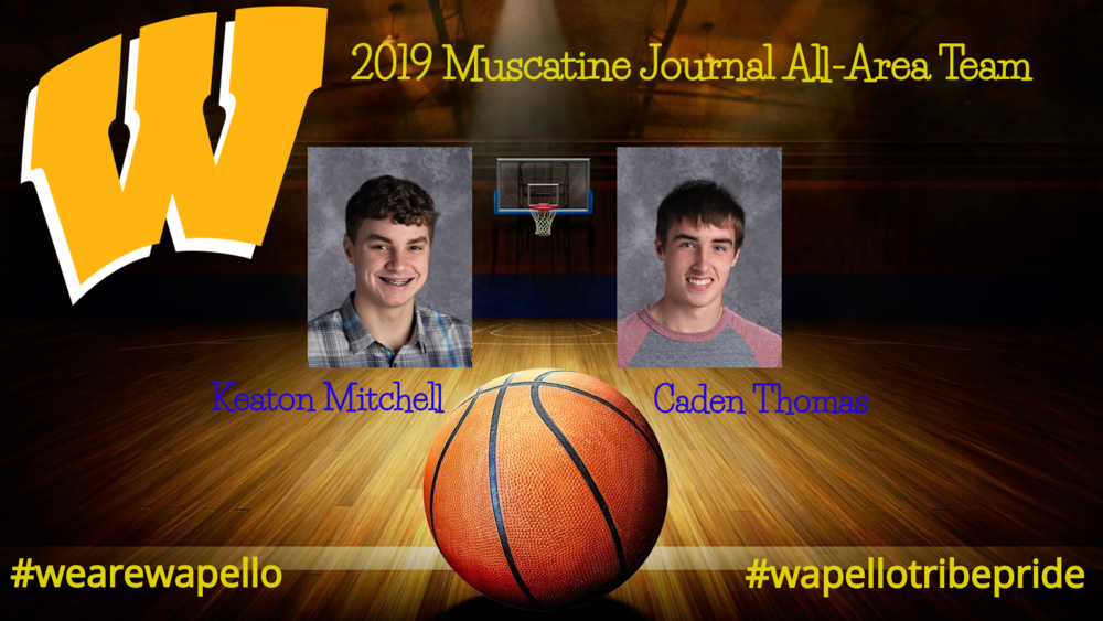 Mitchell and Thomas Named to 2019 Muscatine Journal All-Area Team