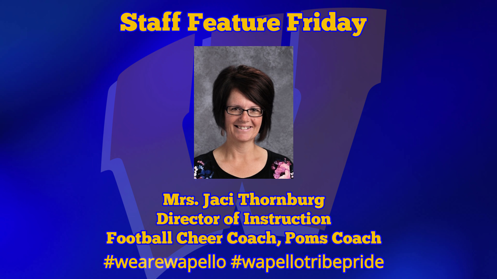 Staff Feature Friday - Jaci Thornburg