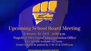 Wapello CSD Board of Directors to meet on 2-10-21