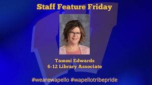Staff Feature Friday - Tammi Edwards - 6-12 Library Associate