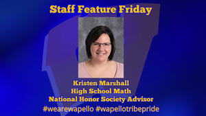 Staff Feature Friday - Kristen Marshall, HS Math Teacher, NHS Advisor