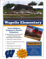 Wapello Elementary to Host Early Childhood Open House