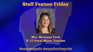 Staff Feature Friday - Monique Peck - K-12 Vocal Music Teacher