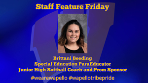 Staff Feature Friday - Brittani Beeding, Special Educaiton ParaEducator