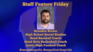 Staff Feature Friday - Brandon Brown, High School Social Studies Teacher