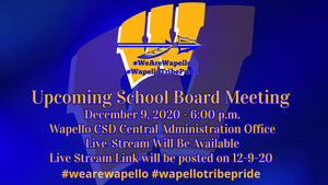 Wapello CSD Board of Directors to meet on 12-9-20