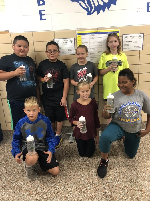 Wapello Elementary Students with their Delta Dental Water Bottles