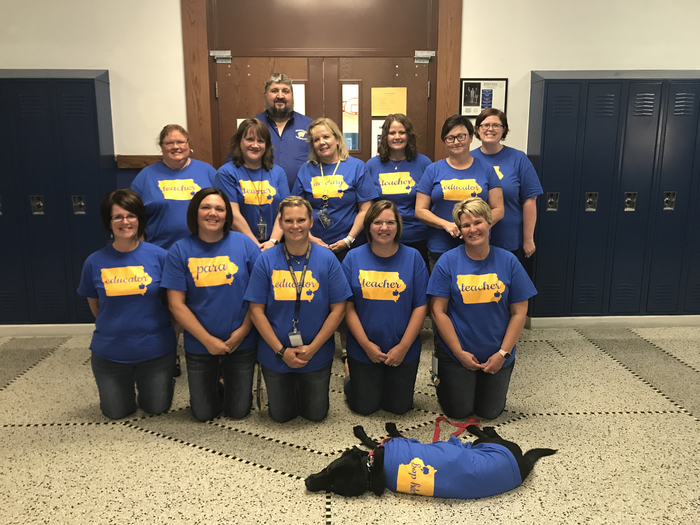 Our JR/SR High Staff showing Tribe Pride