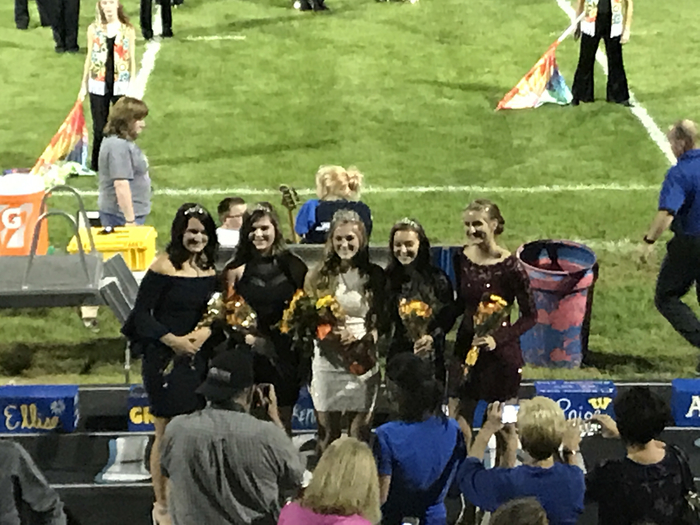 WHS Homecoming Queen and her court