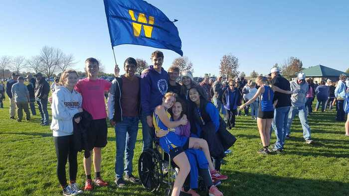 Wapello Cross Country Cheering Section