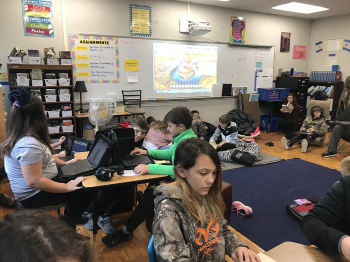 Practicing vocabulary on Quizlet and independent reading.