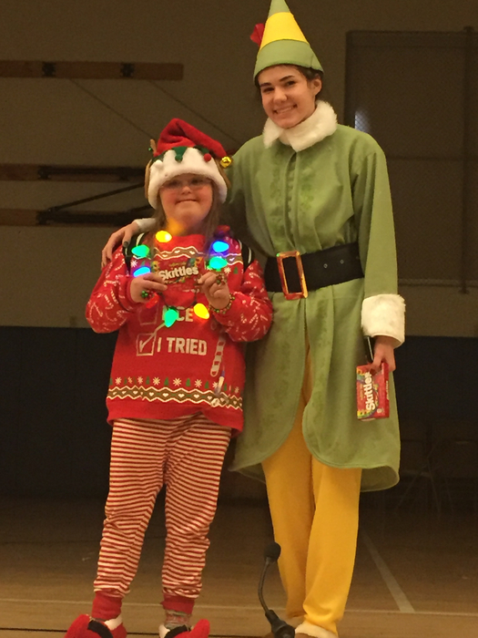 Elf Dress-Up day winners! Congrats girls!!