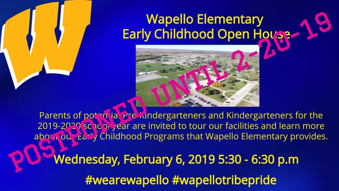 Early Childhood Open House POSTPONED
