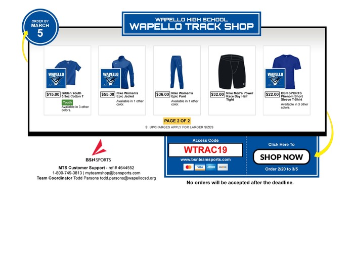 WHS Track Flyer 2