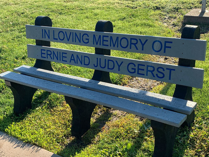 Ernie and Judy Gerst Memorial Bench
