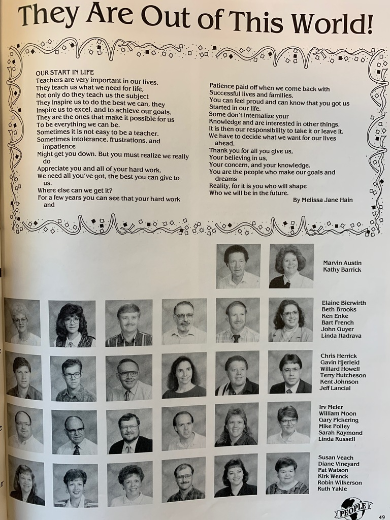 Throwback Thursday! Today we take a look back some 25 years ago to the 1993-1994 WHS Yearbook. Enjoy some of these memories from the days at WHS!