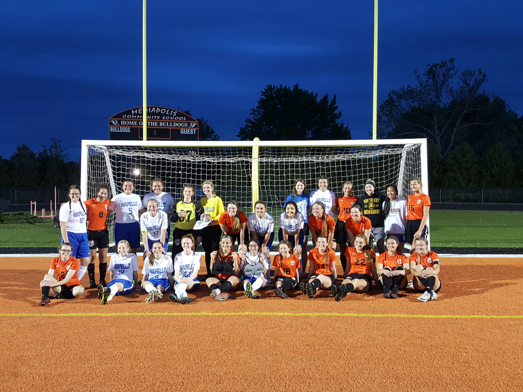 Wapello and Mediapolis soccer play to raise money for the Sports Bra Project
