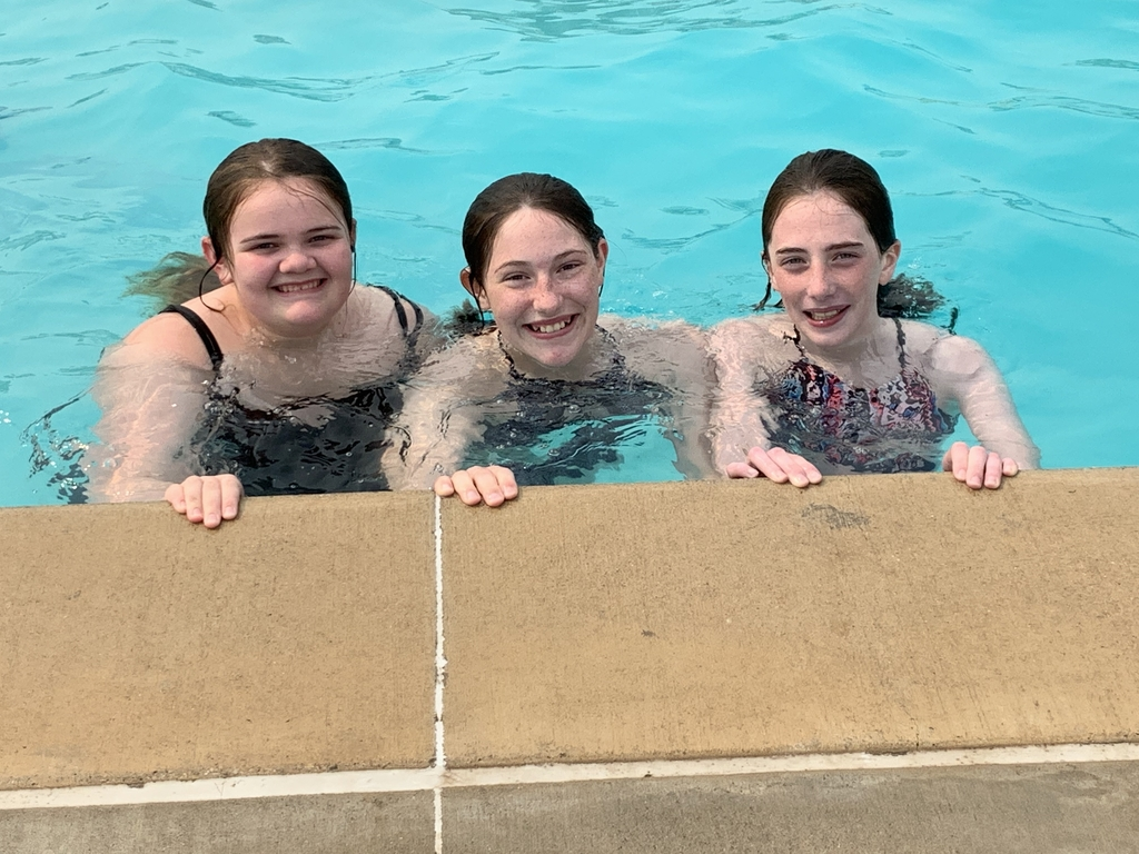 Middle school students at the pool.