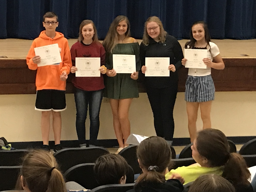 8h Grade Presidential Educational Excellence Award Winners