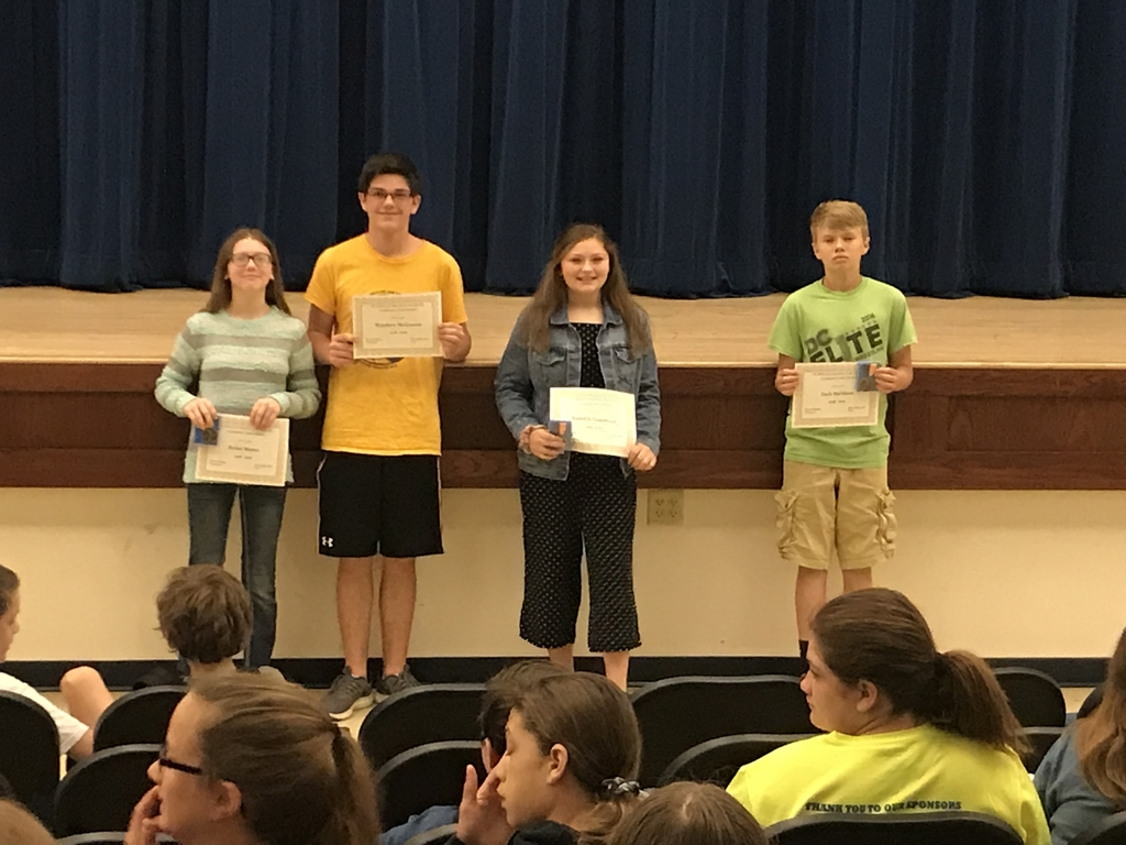 7th Grade Academic Gold Medal Winners