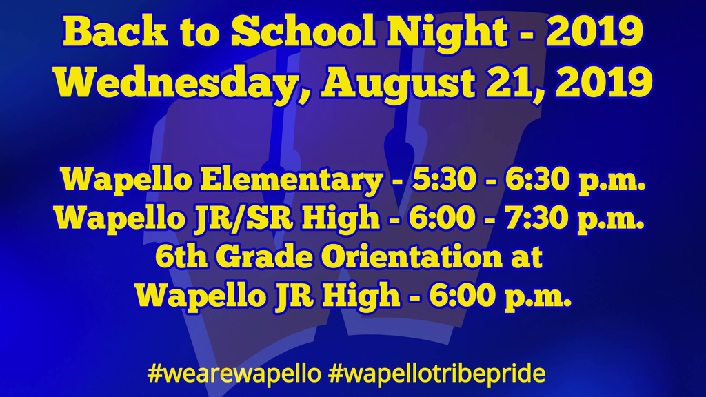 Back to School Night 2019
