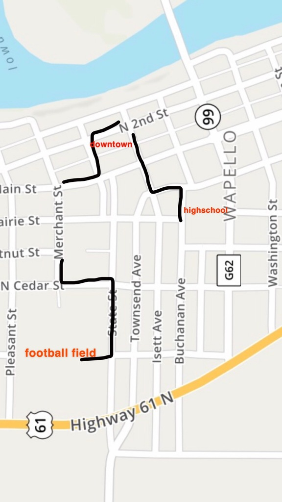 Homecoming Parade Route 2019