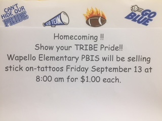 Elementary Tattoo Sales- This Friday @8:00am