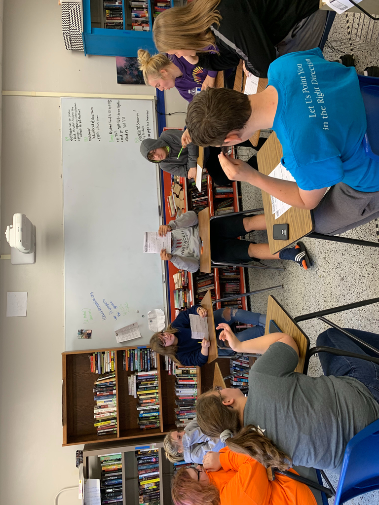 Mrs. Moulton's social justice literature class had a Socratic seminar today over Mark Oshiro's book Anger is a Gift. Students had a lot to say!