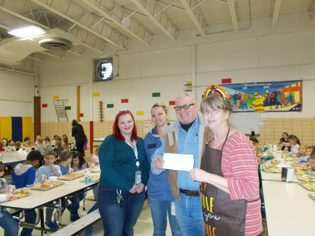Donation to WCSD Food Service Department from the Zachary Group