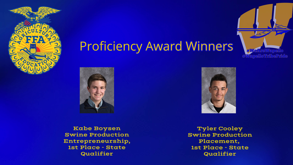 Proficiency Award Winners