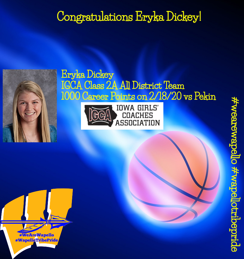 Eryka Dickey Accomplishment