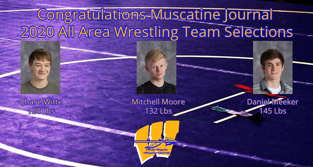 2020 Muscatine Journal All Area Wrestling Team
