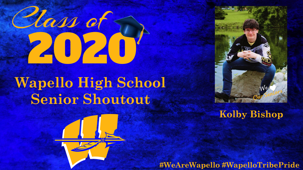 Senior Shoutout - Kolby Bishop